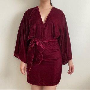 Sold 🚫 ASOS Velvet Kimono Sleeve Dress